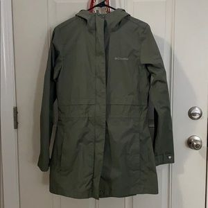 Columbia green rain jacket